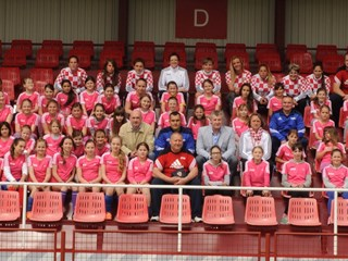 Davor Šuker visits girls' football festival