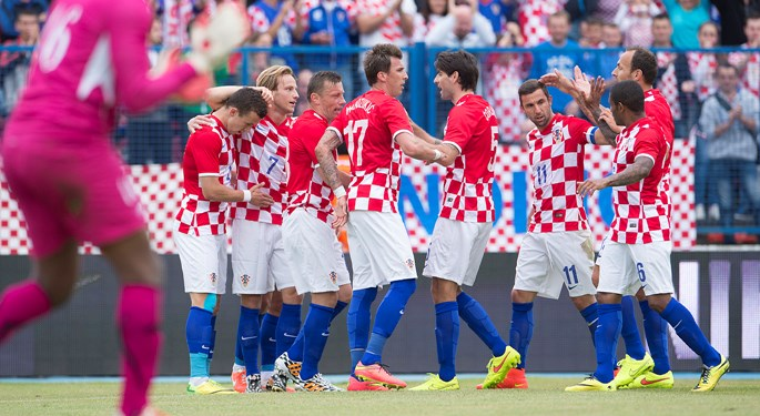 Perišić double for Croatia victory over Mali