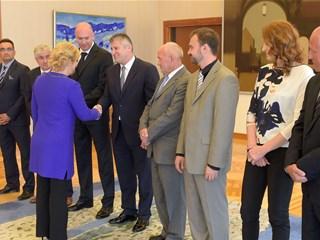 Davor Šuker među predstavnicima hrvatskog sporta kod predsjednice RH