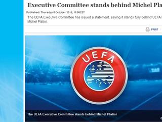 IO Uefe podržava Michela Platinija