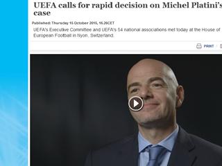 UEFA pozvala na brzo donošenje odluka o slučaju Michela Platinija