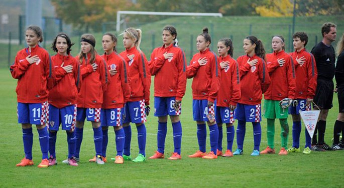 Hrvatska U-15 odigrala povijesni susret sa Slovenkama