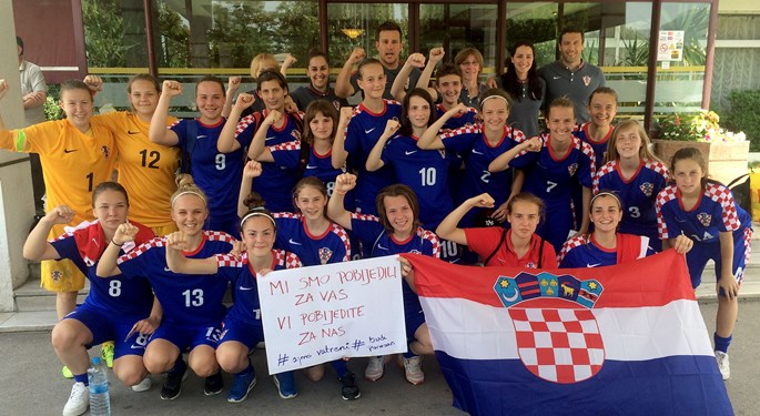 Mlade Hrvatice bolje od Makedonije