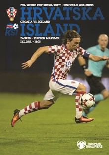 2018 FIFA World Cup™,<br>European qualifiers<br>Croatia v. Iceland Zagreb, 12 November 2016