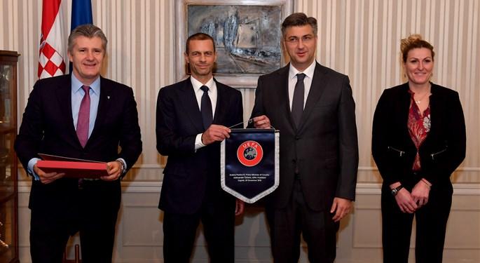Predsjednik Uefe Aleksander Čeferin boravio u Zagrebu