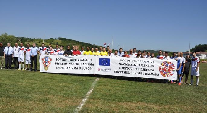 Reprezentacija Roma Hrvatske na 71. rođendanu NK Petrova Gora