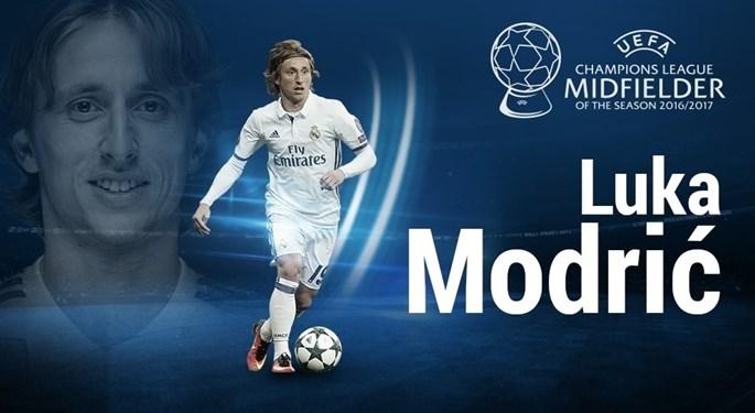 Luka Modrić, the best midfielder of 2016/17 Champions League