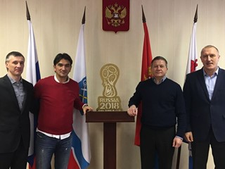 Head coach Dalić and HNS delegation visit Croatia basecamp