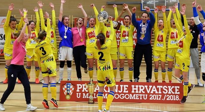 Video: Igračice Alumnusa prvakinje Hrvatske u futsalu