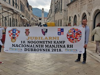 Deseti nogometni kamp nacionalnih manjina u Dubrovniku