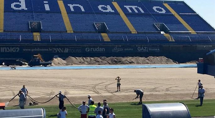 Započela obnova travnjaka na maksimirskom stadionu