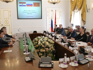 Šuker i delegacija HNS-a na sastanku s guvernerom St. Peterburga