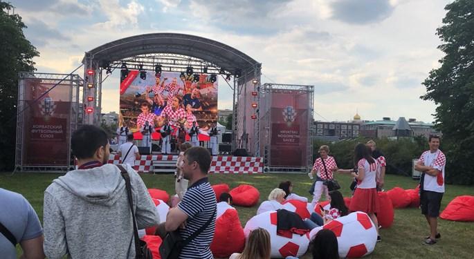 Otvorena hrvatska navijačka zona u Moskvi