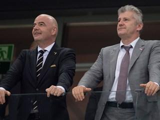 Infantino congratulates Šuker and the Vatreni
