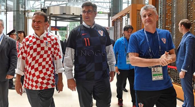 Andrej Plenković i Gordan Jandroković došli podržati Vatrene