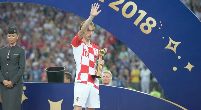 Luka Modrić wins Golden Ball award!