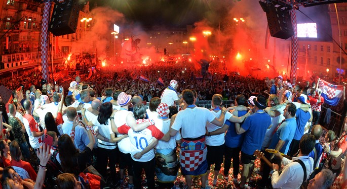 Croatia returns to a heroes' welcome!