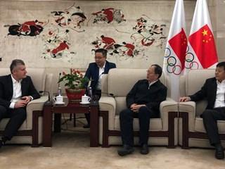 HNS president Davor Šuker visits China
