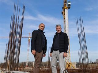 Video: Predsjednik Šuker obišao gradilište novog osječkog stadiona