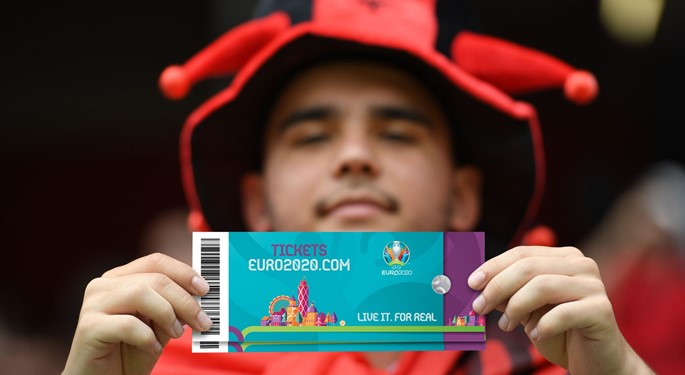 The ticket application process for EURO 2020 has started