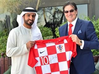 President of the UAE FA receives Damir Mišković in Ajman
