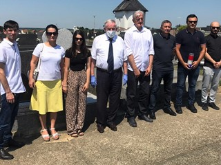 Delegacija HNS-a na memorijalu Andrije Andabaka