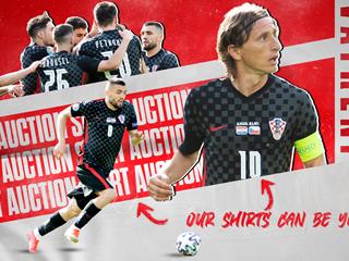 Match worn Croatia Euro 2020 shirts go under the hammer