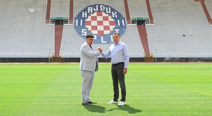 New hybrid pitch presented at Poljud Stadium in Split
