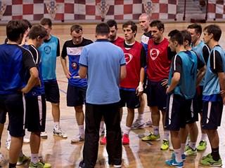 Trening malonogometne reprezentacije u Dubrovniku