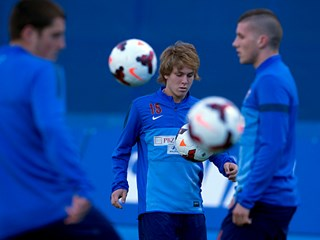 First training-session ahead of Serbia